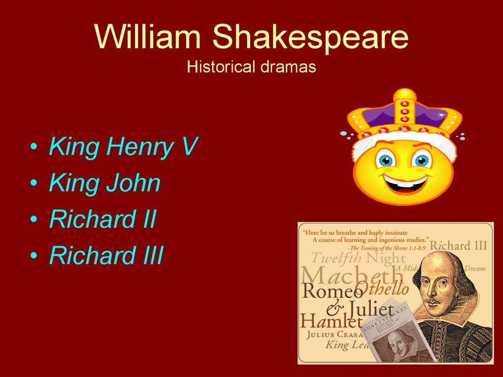William Shakespeare Historical dramas