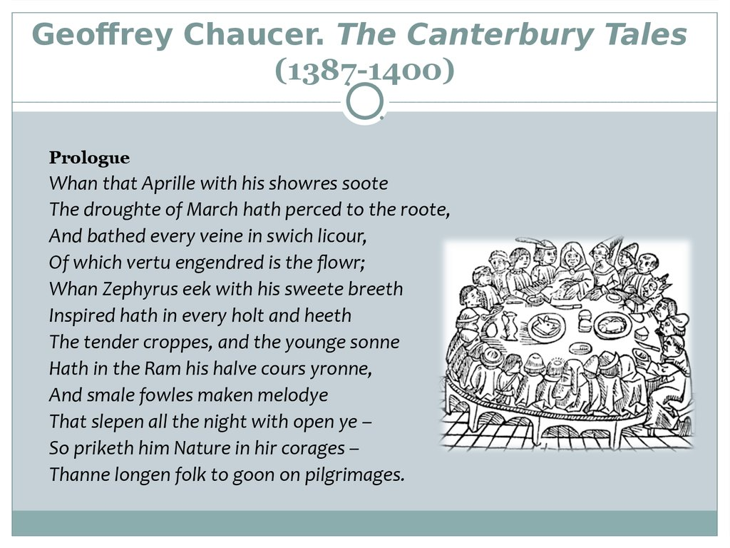 a comparison of geoffrey chauncers canterbury tales characters with present day people Get an answer for 'what three modern-day characters might chaucer include characters might chaucer include in his tales canterbury tales quiz geoffrey.