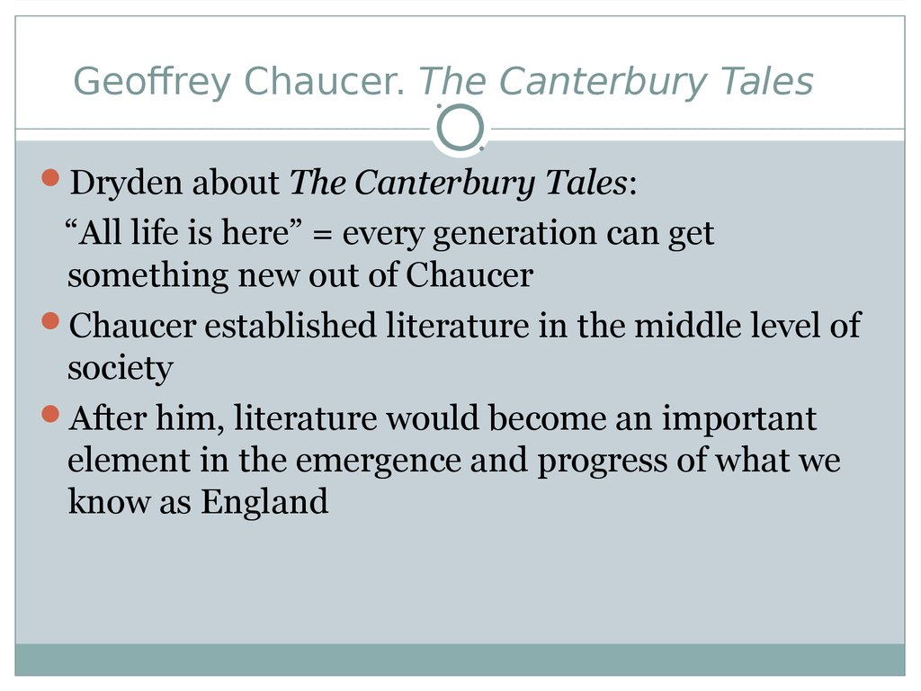 an analysis of medieval society in canterbury tales by geoffrey chaucer After analysis of chaucer's diction and historical context with an understanding of medieval society the canterbury tales by geoffrey chaucer.