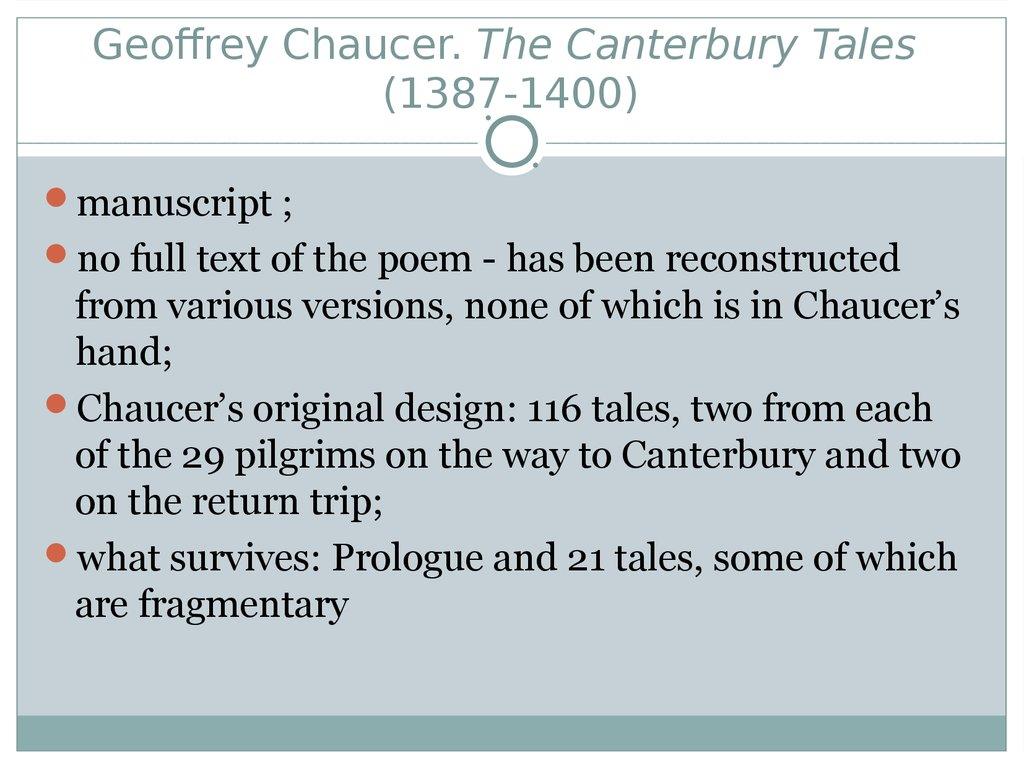 canterbury tales original language