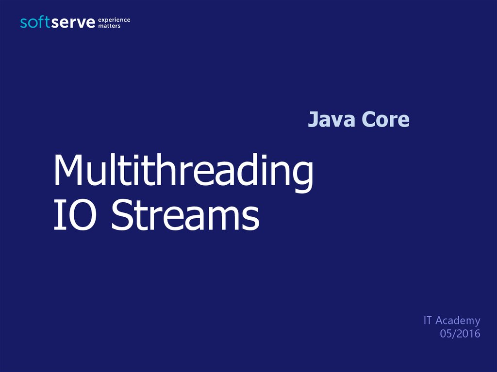 Multithreading IO Streams