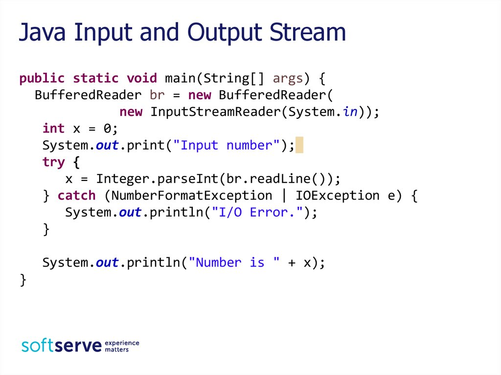 Java Input and Output Stream