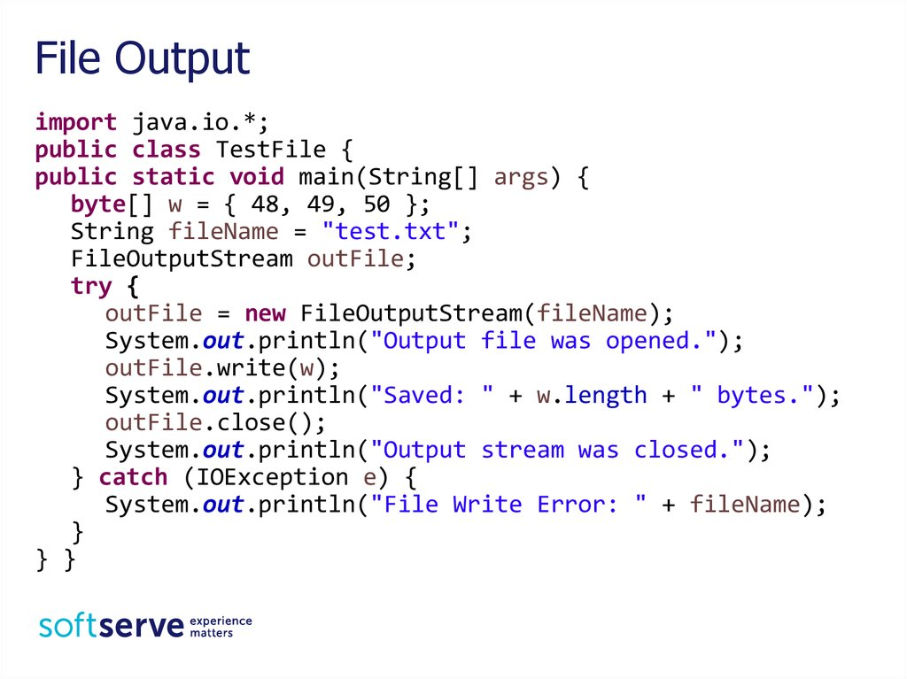 Multithreading IO Streams Java Core - online presentation