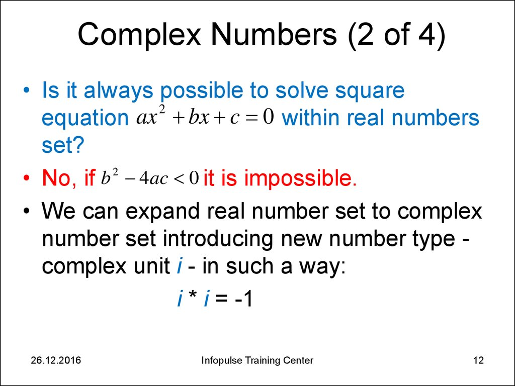 Complex Numbers (2 of 4)