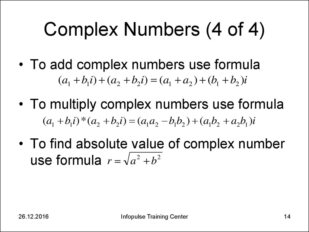 Complex Numbers (4 of 4)