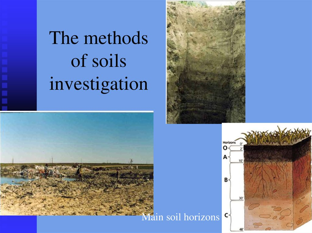 The methods of soils investigation