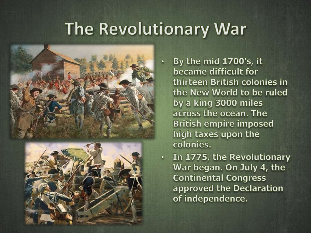a description of how the revolutionary war begun Printable version overview of the american revolution digital history id 2910 much more than a revolt against british taxes and trade regulations, the american revolution was the first modern revolution.