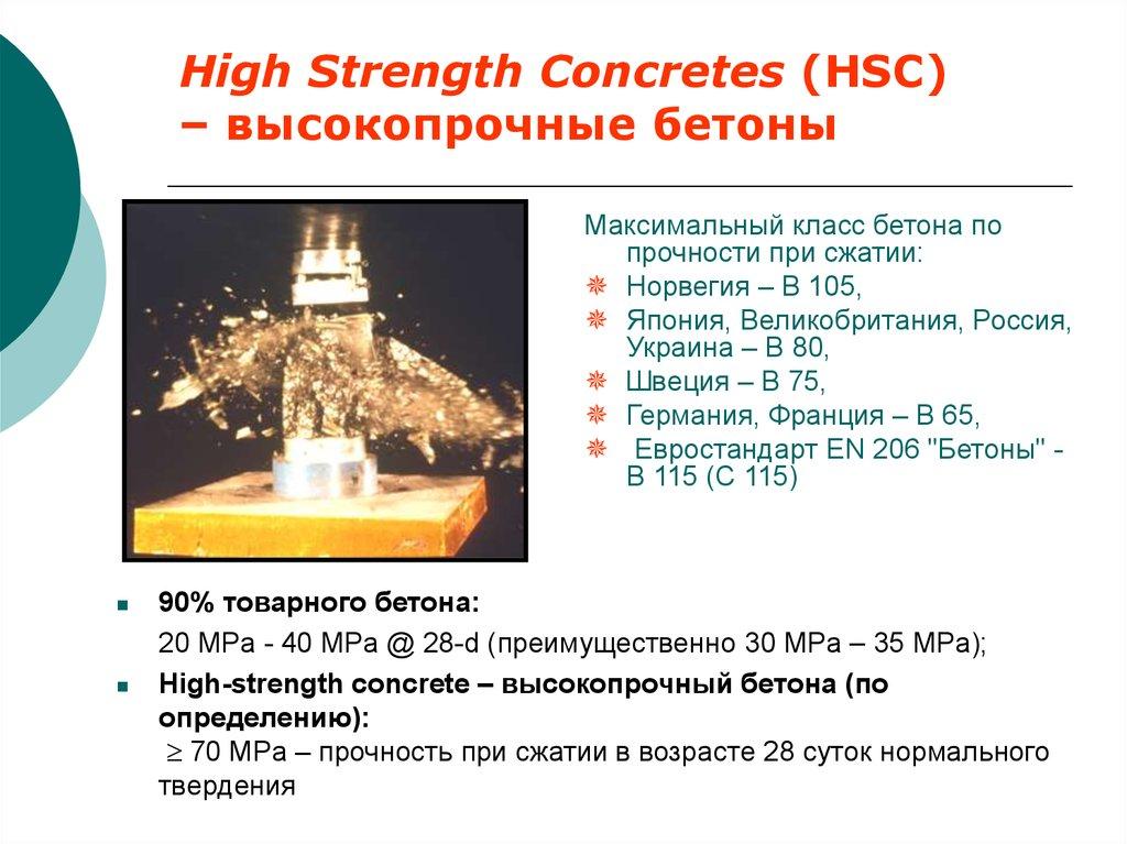 Особо высокопрочные бетоны ктр бетона