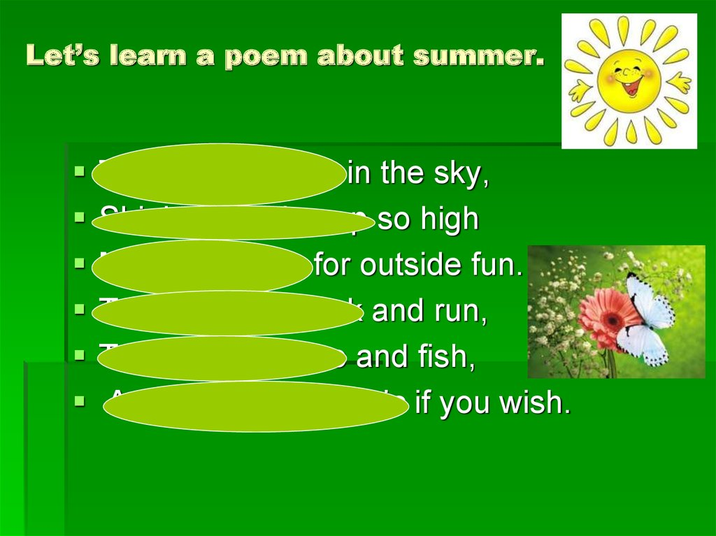 Let's learn a poem about summer.