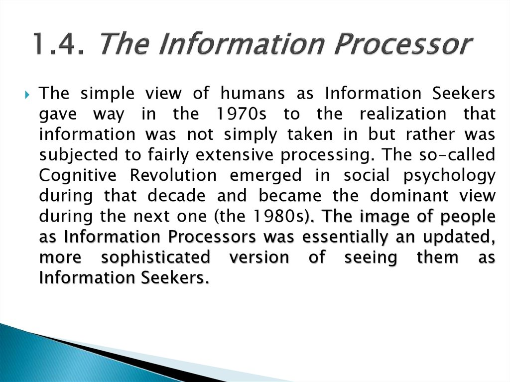 1.4. The Information Processor