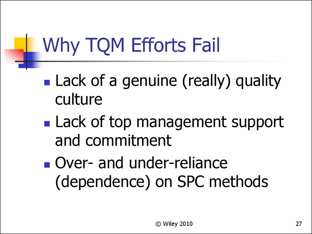 Why TQM Efforts Fail