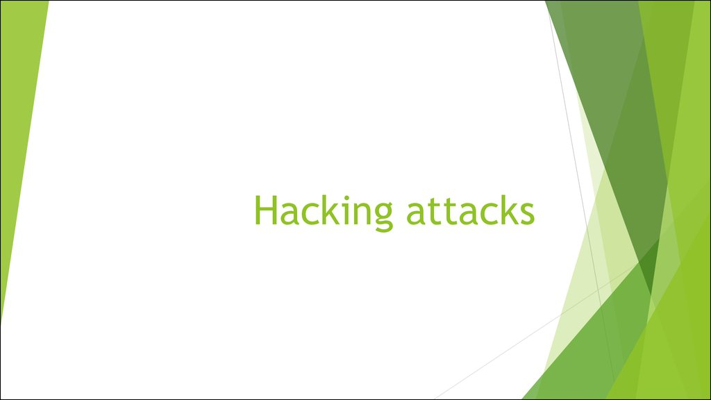 Hacking attacks