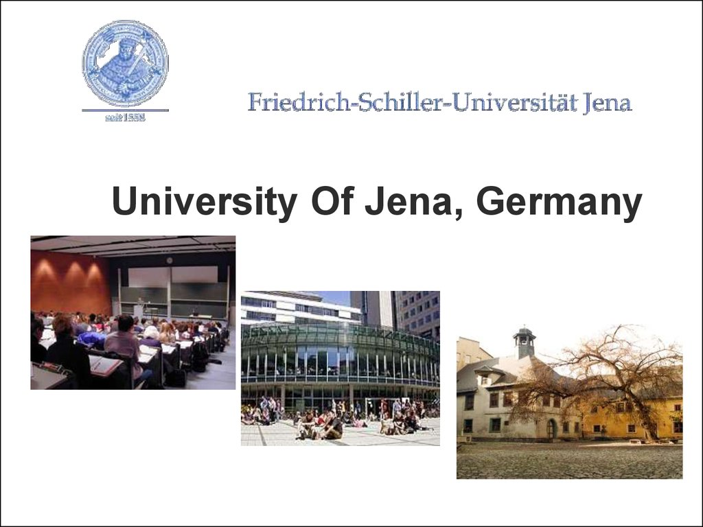 University Of Jena, Germany