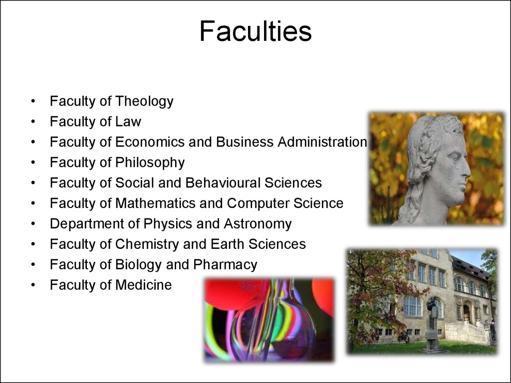 Faculties