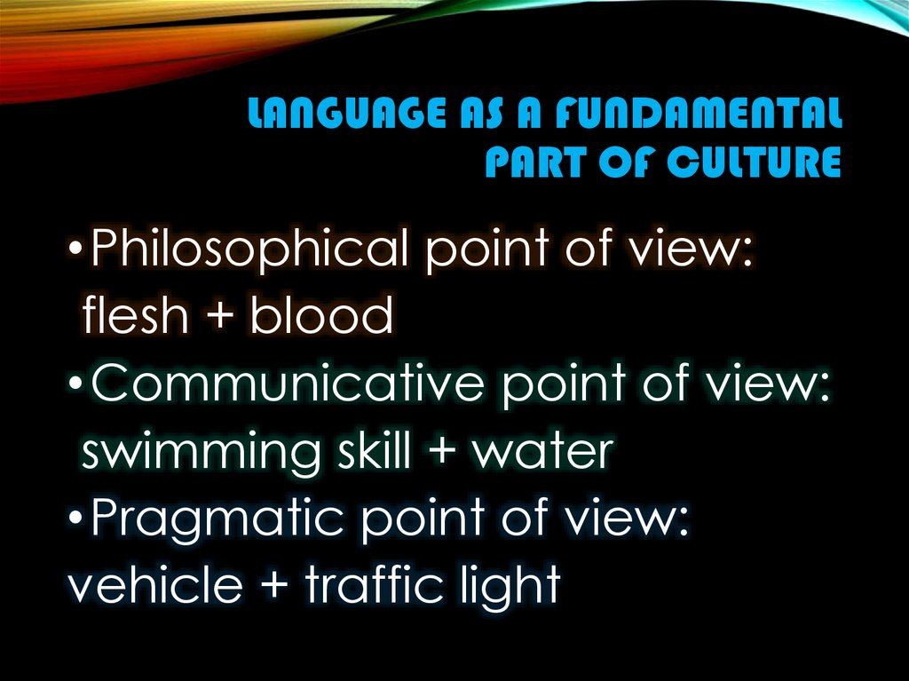 Language as a fundamental part of culture