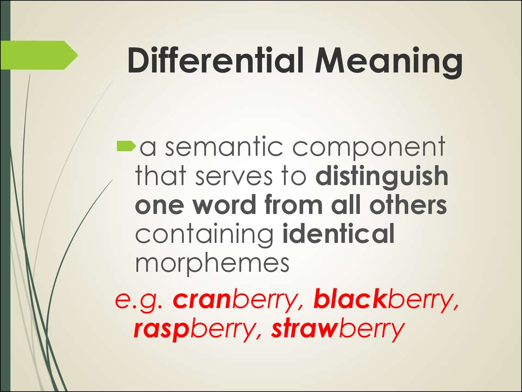 Differential Meaning