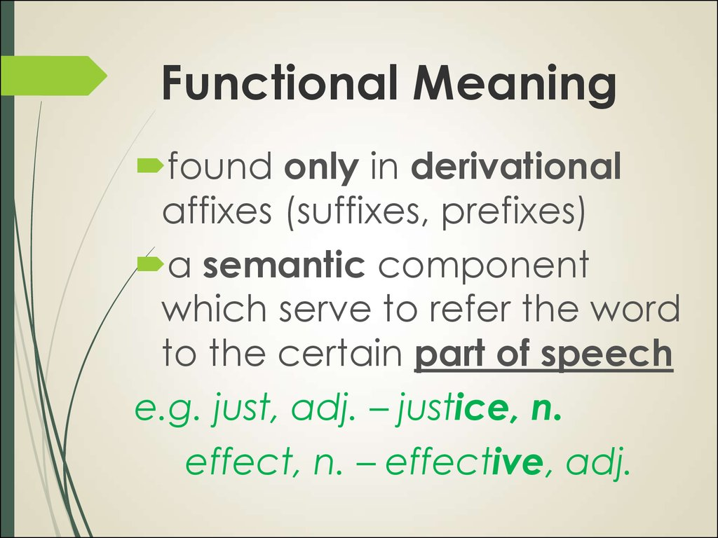 Functional Meaning