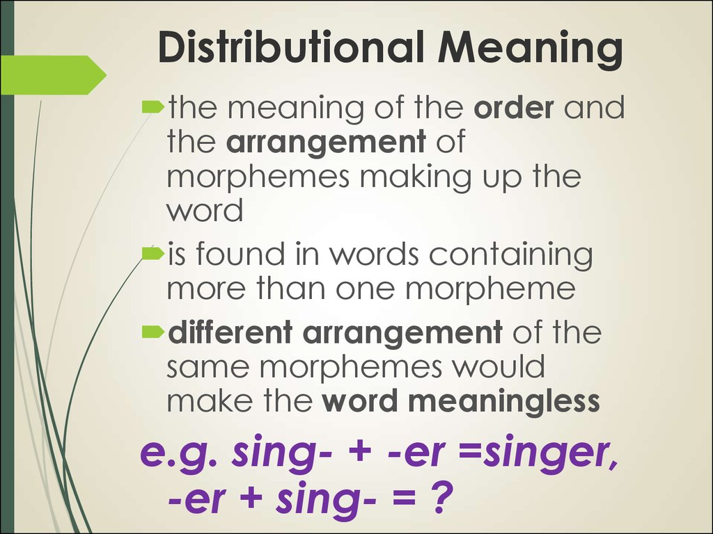 Distributional Meaning