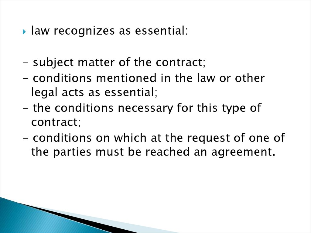 The Essential Terms Of The Contract Online Presentation