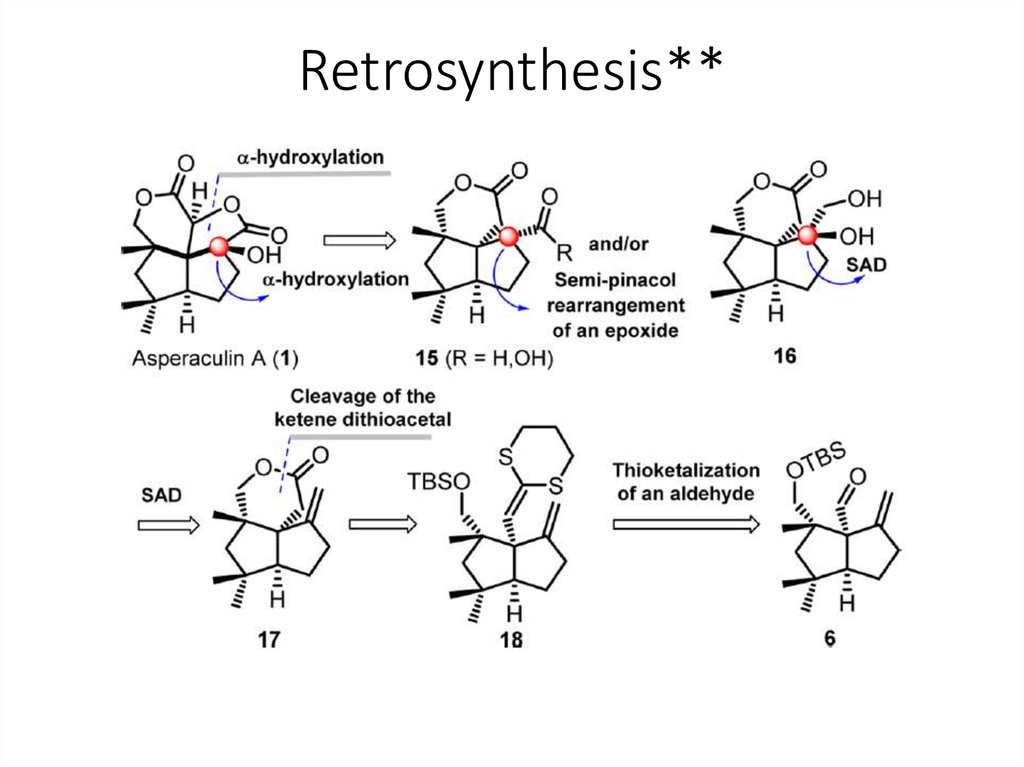 in retrosynthesis A brief introduction to the use of retrosynthesis in devising synthetic plans and strategies to the synthesis of organic molecules parts of the total synthe.