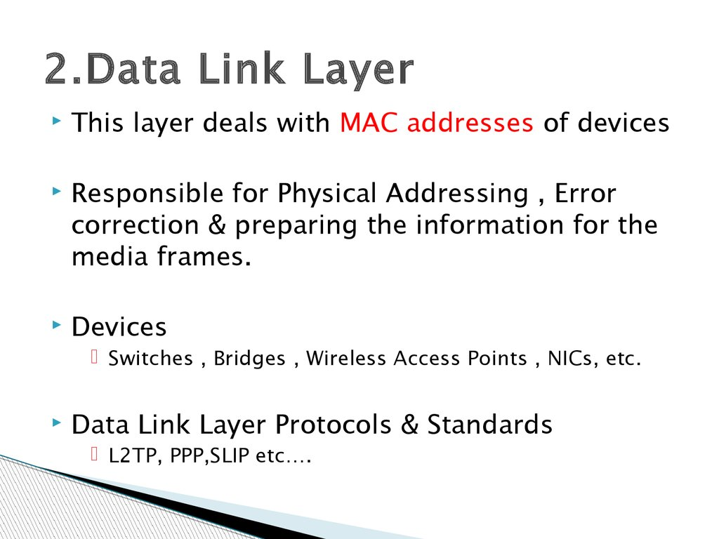 2.Data Link Layer