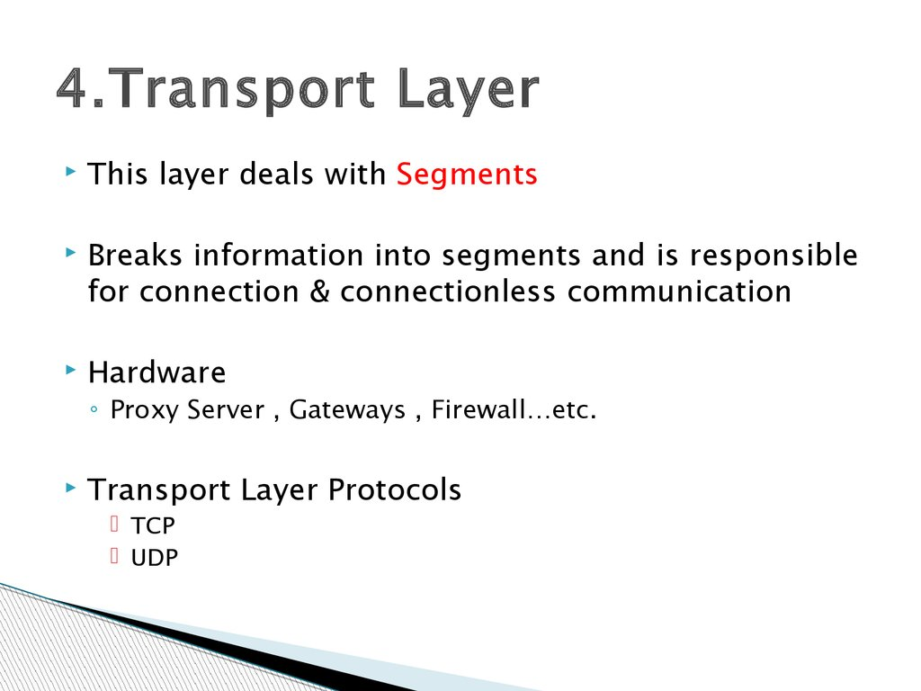 4.Transport Layer