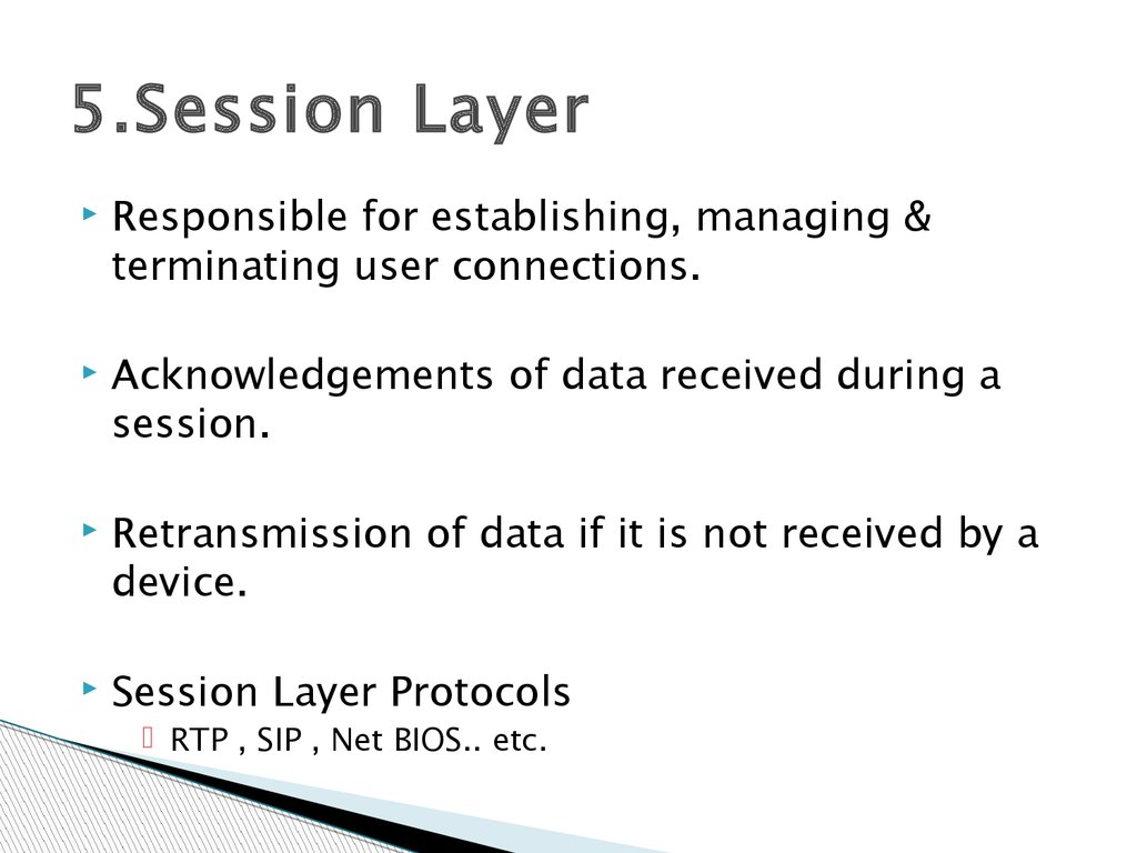 5.Session Layer