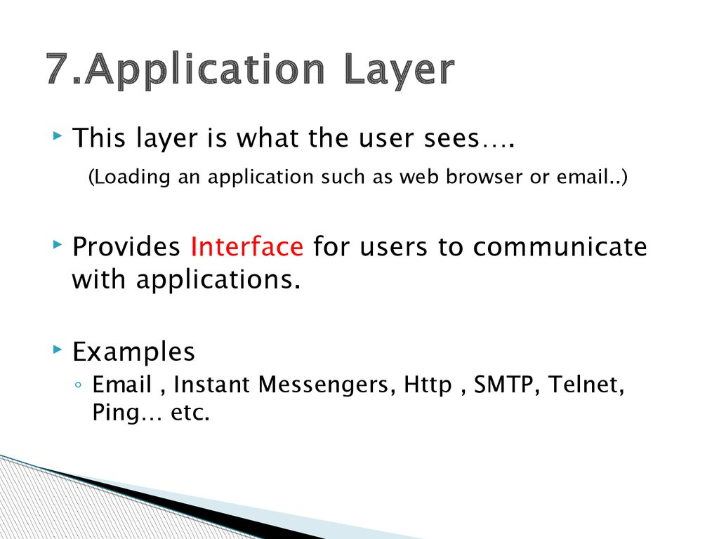 7.Application Layer