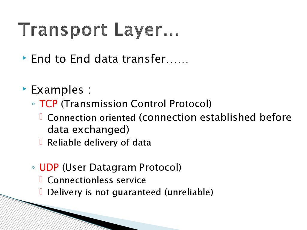 Transport Layer…