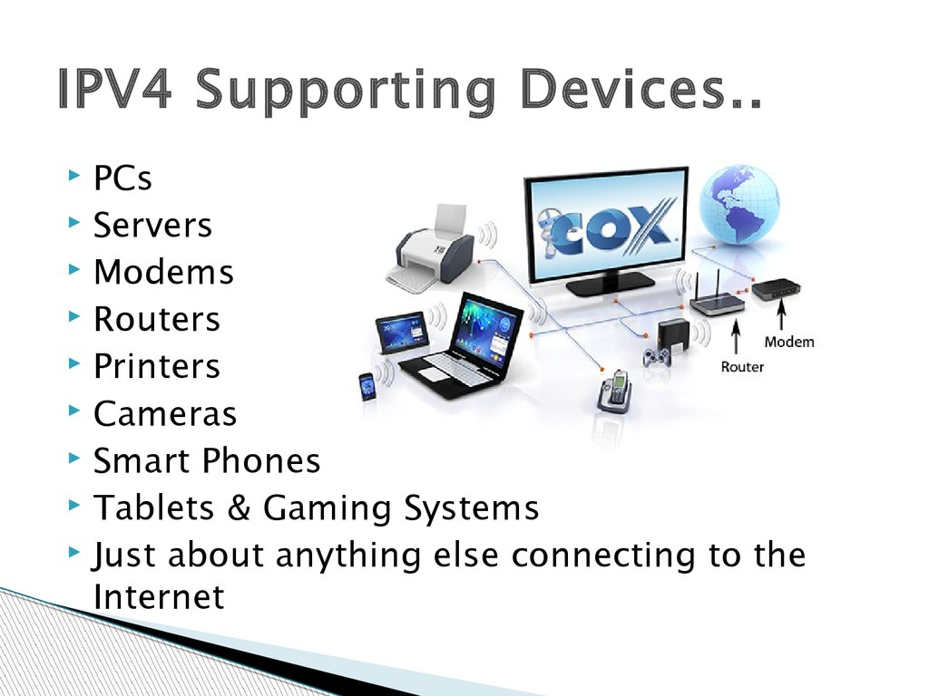 IPV4 Supporting Devices..