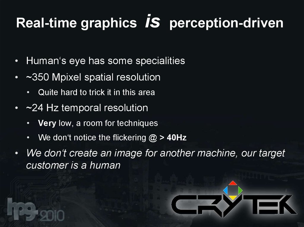 Real-time graphics is perception-driven