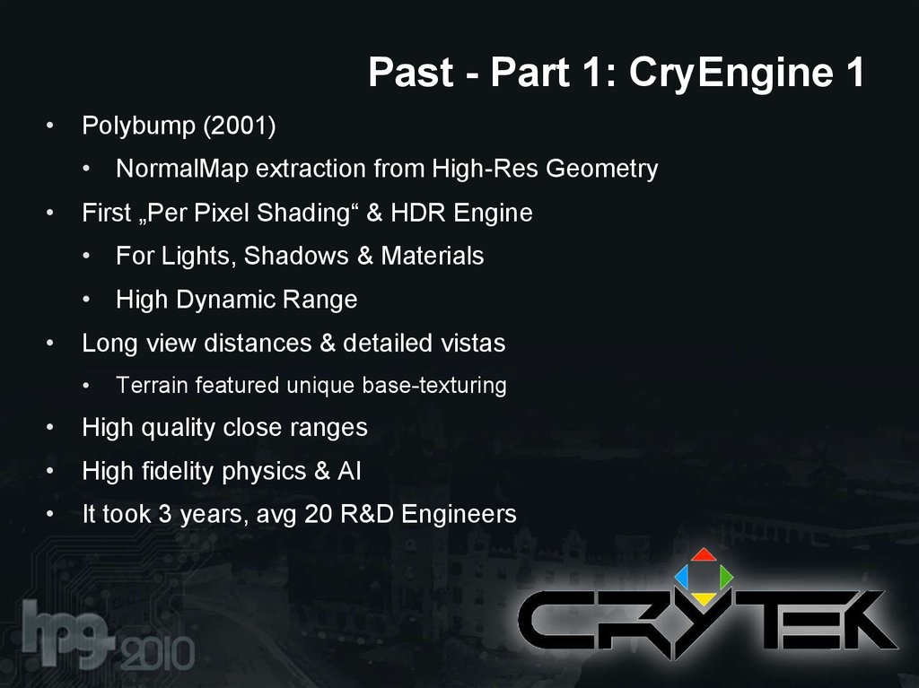 Past - Part 1: CryEngine 1