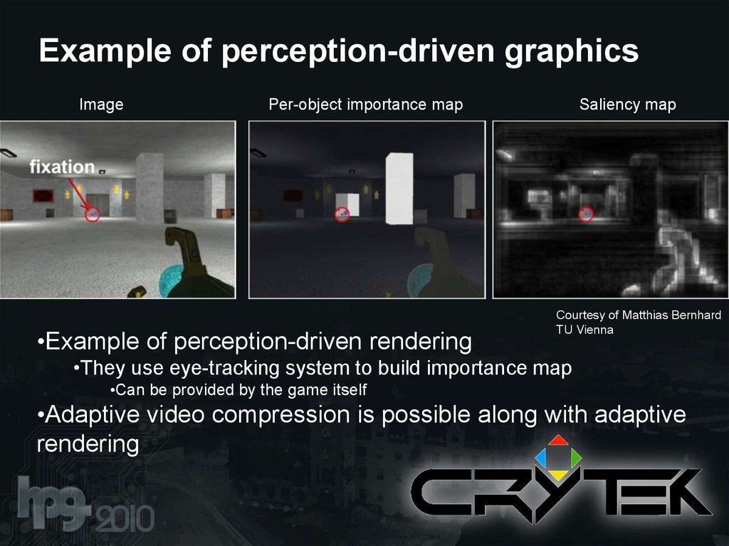 Example of perception-driven graphics