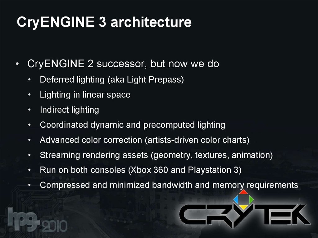 CryENGINE 3 architecture