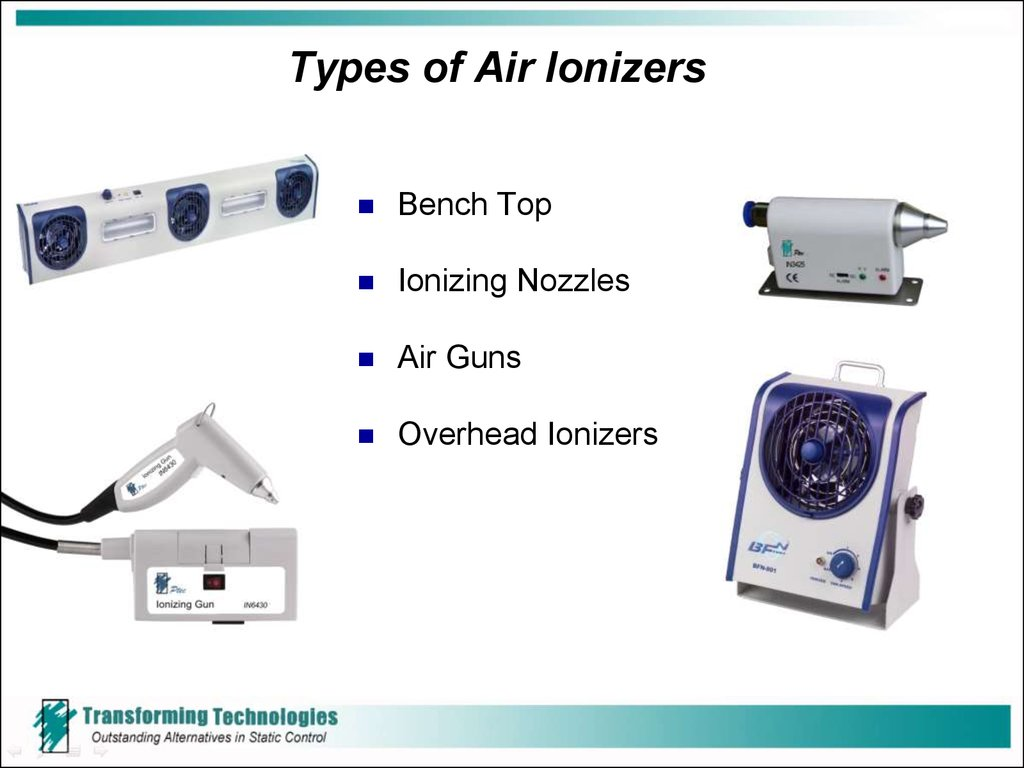 Types of Air Ionizers