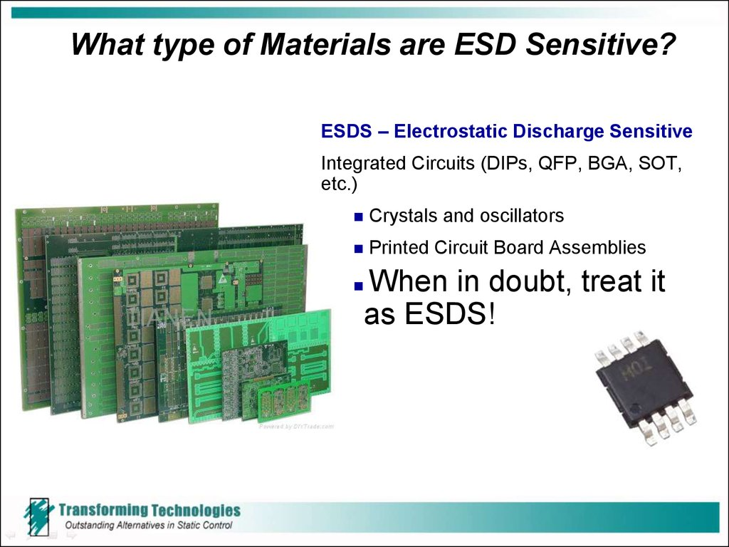 What type of Materials are ESD Sensitive?