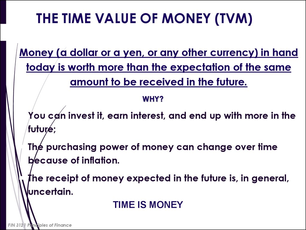 The Time Value Of Money Tvm