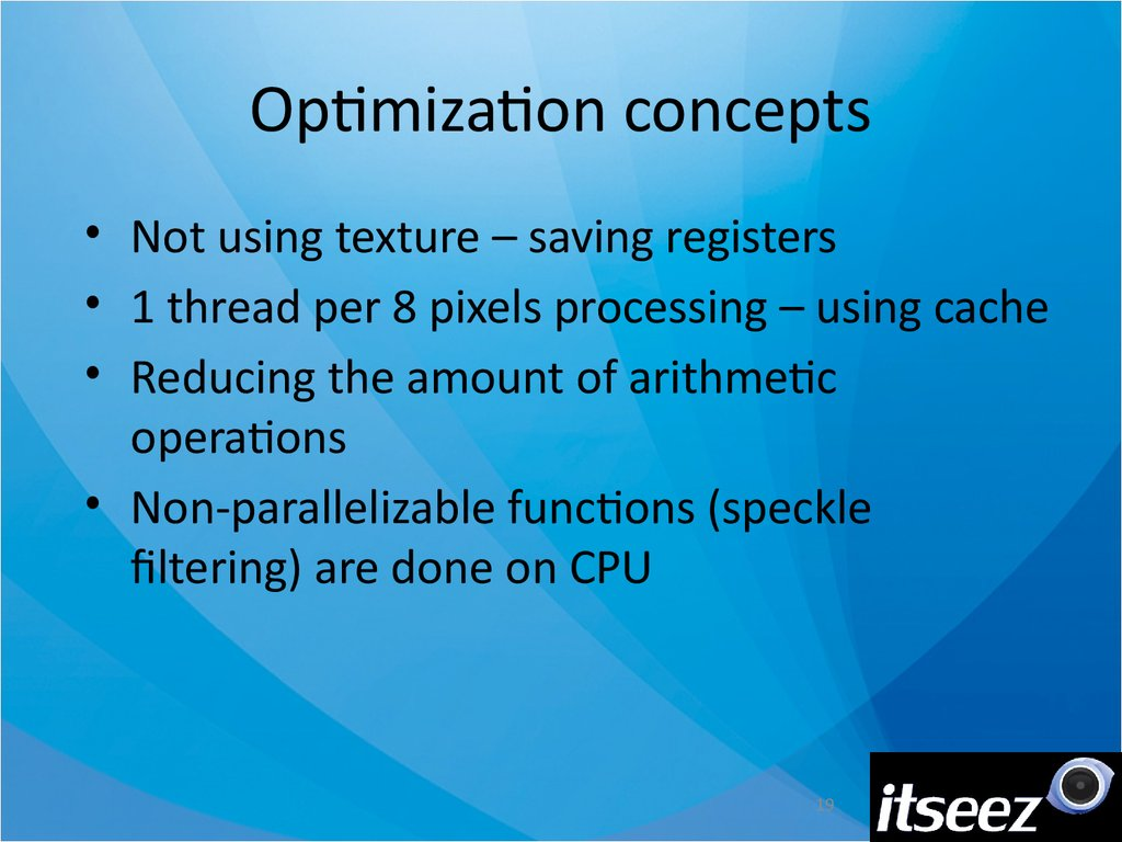 Optimization concepts