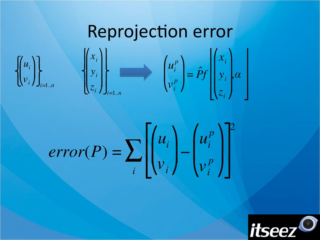 Reprojection error