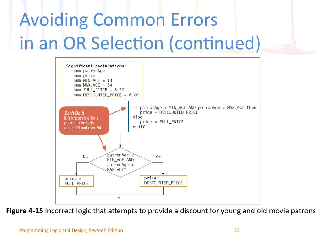 Avoiding Common Errors in an OR Selection (continued)