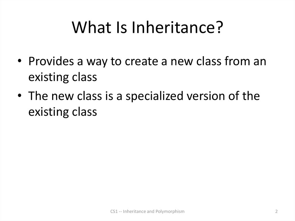 What Is Inheritance?