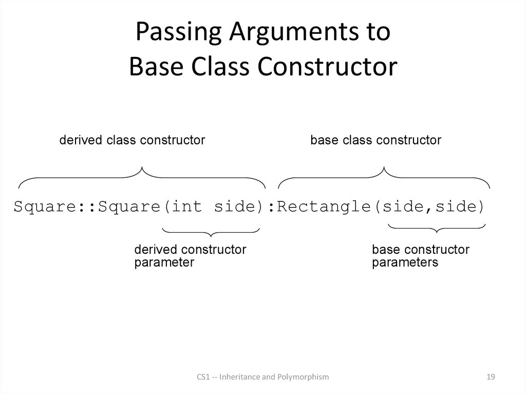 Passing Arguments to Base Class Constructor
