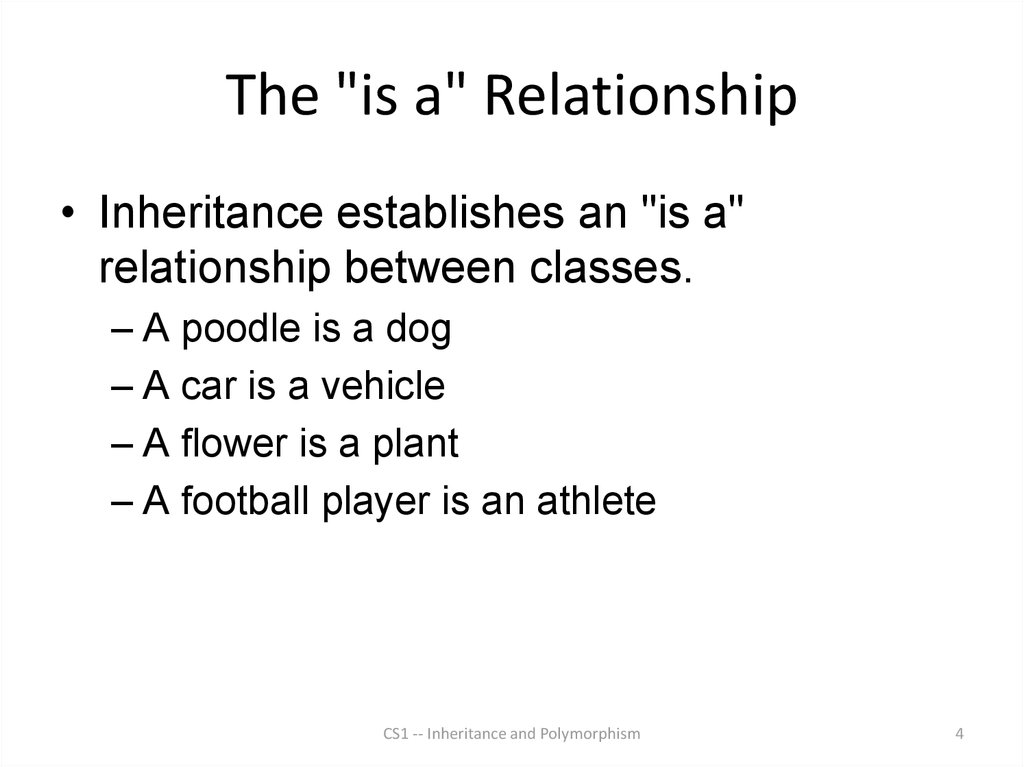 "The ""is a"" Relationship"