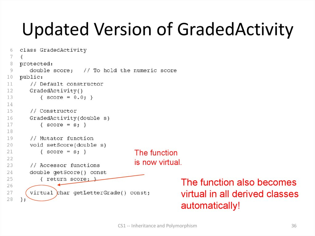 Updated Version of GradedActivity