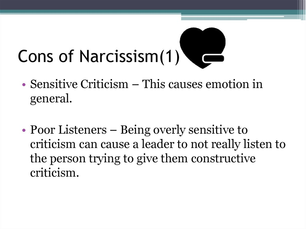Cons of Narcissism(1)