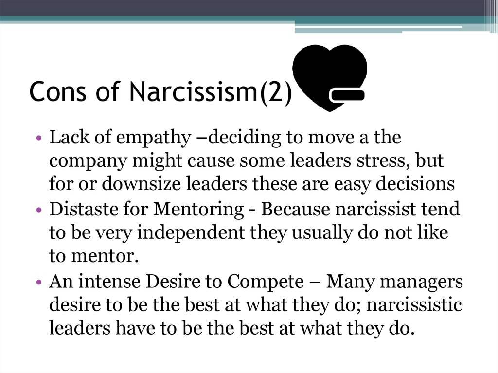 Cons of Narcissism(2)