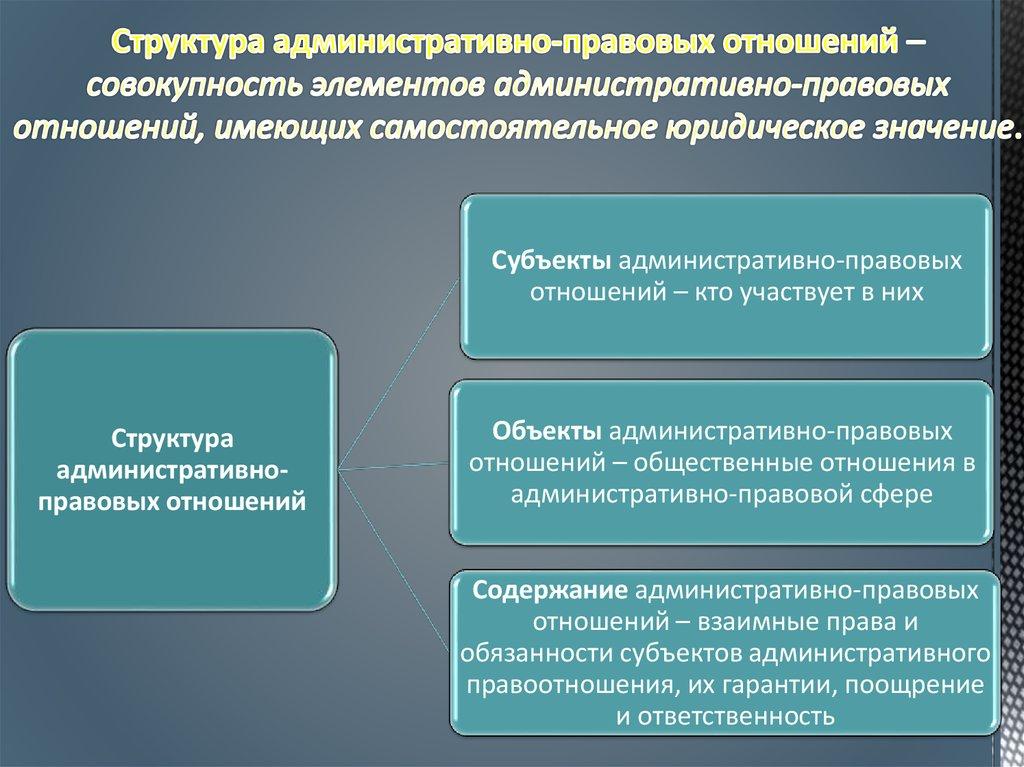 понятие и особенности административных правоотношений шпаргалка