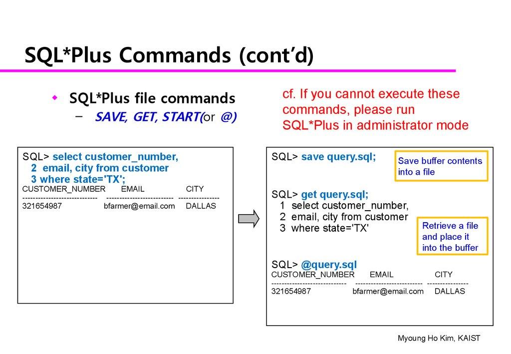 An Exercise of SQL Using SQL* Plus - презентация онлайн