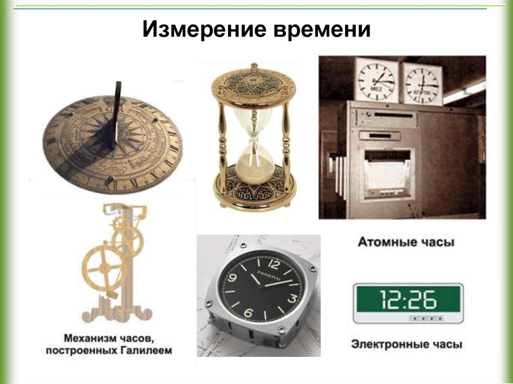 Картинка измерение времени