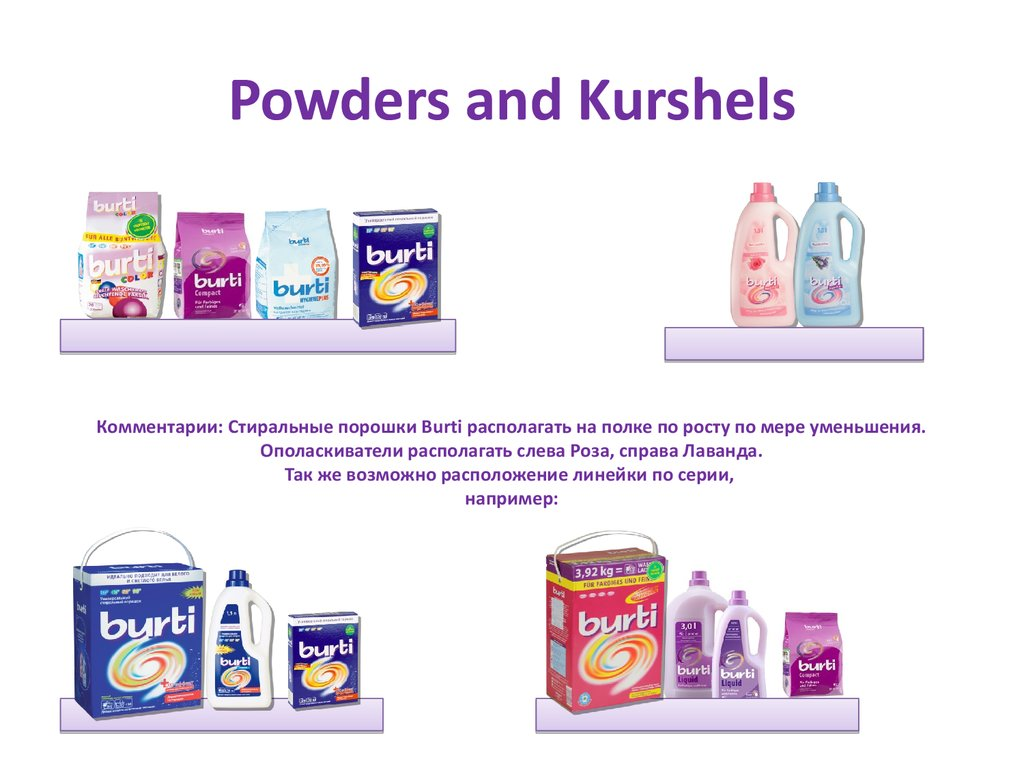 Powders and Kurshels